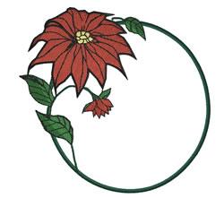 Poinsettia Frame embroidery design