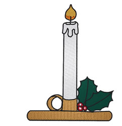 Burning Candle embroidery design