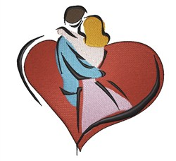 Lovers Heart embroidery design