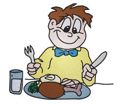 Turkey Dinner embroidery design