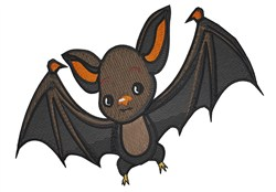 Cute Bat embroidery design