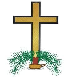 Christmas Cross embroidery design