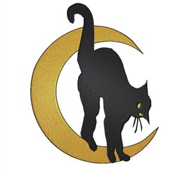 Cat On The Moon embroidery design