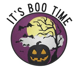 Boo Time embroidery design