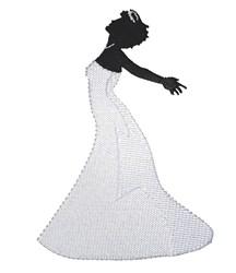 Happy Bride embroidery design