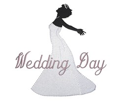 Wedding Day embroidery design