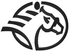 Horse Logo embroidery design