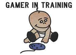 Gamer In Training embroidery design