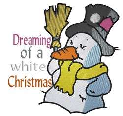 A White Christmas embroidery design