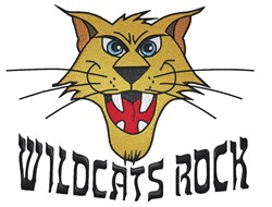 Wildcats Rock embroidery design