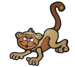 Cute Monkey embroidery design