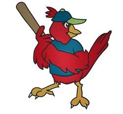 Baseball Cardinal embroidery design