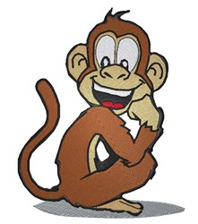 Laughing Monkey embroidery design