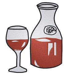 Wine Decanter embroidery design