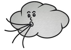 Blowing Cloud embroidery design