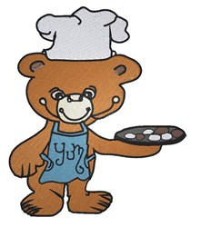 Teddy Chef embroidery design