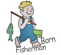 Born Fisherman embroidery design