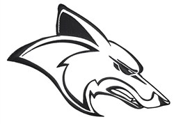 Coyote Head Outline embroidery design