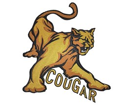 Cougar embroidery design
