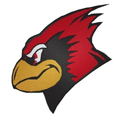 Cardinal Head embroidery design