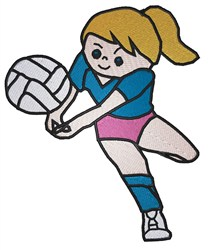 Volleyball Girl embroidery design