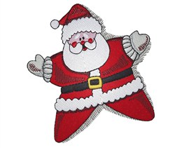 Welcome Santa embroidery design