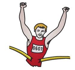Marathon Runner embroidery design