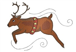 Jumping Reindeer embroidery design