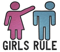 Girls Rule embroidery design