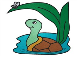Turtle In Pond embroidery design