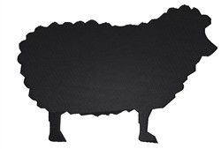 Sheep Silhouette embroidery design