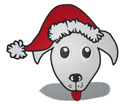 Dog In Santa Hat embroidery design