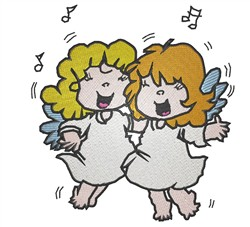 2 Singing Angels embroidery design