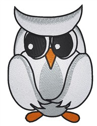 White Owl embroidery design