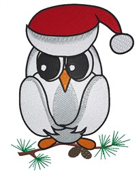 Owl In Santa Hat embroidery design