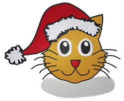 Cat In Santa Hat embroidery design