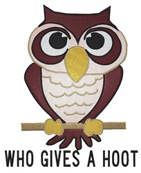 A Hoot embroidery design