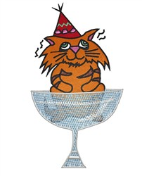 Party Kitty embroidery design