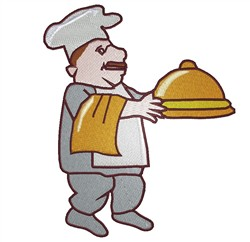 Chef embroidery design