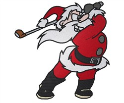 Santa Golfing embroidery design