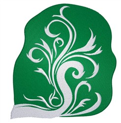 Swirl embroidery design