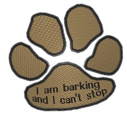 Barking embroidery design