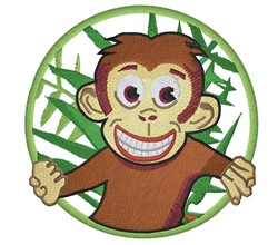 Smiling Ape embroidery design