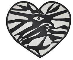 Zebra Heart embroidery design