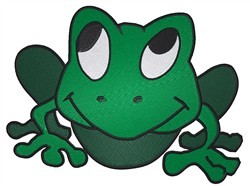 Bull Frog embroidery design