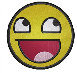 Cute Smiley embroidery design