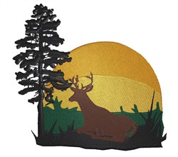 Deer Scene embroidery design