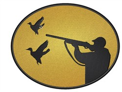 Duck Hunting embroidery design