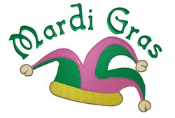 Mardi Gras Cap embroidery design