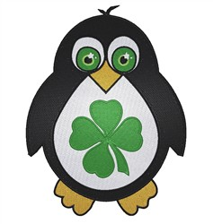 St Patrick Penguin embroidery design